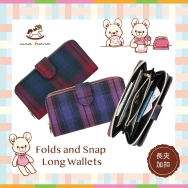 W04 Folds and Snaps Long Wallets